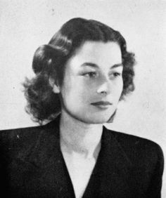 """Violette Szabo (Anglo-French Special Operations Hero, 1921-45). Subject of the film """"Carve Her Name With Pride"""", she was captured, tortured and finally executed by the Nazis"""