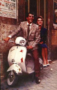 Dean Martin on a Vespa. Loved watching his movies