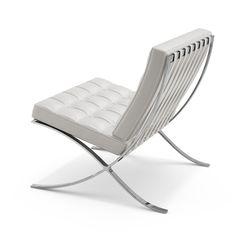 Mies van der Rohe White Barcelona Chair Back Knoll http://emfurn.com