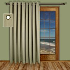 Patio door curtains – Curtains are not just for windows; they can be used to cover doors as well. Large, open doors seem sharp when located against a long wall. Curtains break up space, give privacy and add a luxurious decorative element when it adjoins decorative rods. Covers installed...