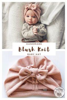 Blush Knit Hat (sweater) w/ Top Knot &; baby turban winter baby hat warm baby hat baby turban ba Blush Knit Hat (sweater) w/ Top Knot &; Baby Girl Hats, Baby Bows, Baby Girl Fashion, Winter Newborn, Baby Winter Hats, Baby Turban, Baby Hats Knitting, Knitted Hats, Baby Hut