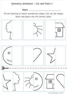 Symmetry Worksheet Pack by Learn With Miss W Symmetry Worksheets, Symmetry Activities, Drawing Activities, Preschool Learning Activities, Homeschool Kindergarten, Kindergarten Worksheets, Worksheets For Kids, Kindergarten Activities, Special Education Behavior