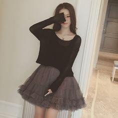 """Material:cotton    Color:black    Size:S,M,L,XL,  Size S:  Length:37cm/14.43"""",bust:78cm/30.42"""",skirt length:79cm/30.81"""",  Size M:  Length:38cm/14.82"""",bust:82cm/31.98"""",skirt length:80cm/31.2"""",  Size L:  Length:39cm/15.21"""",bust:86cm/33.54"""",skirt length:81cm/31.59"""",  Size XL:  Length:40cm/15.6"""",bust..."""