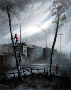 Bob Barker is a UK based artist, born and bred in Yorkshire. It's taken Bob Barker twenty years for his long time love of painting to evolve from a hobby to the point where interest in his work has taken on worldwide awareness. Oil Paint Set, Irish Painters, Landscape Drawings, Landscapes, Painted Boxes, Art Themes, Urban Landscape, Dungeons And Dragons, Vintage Art