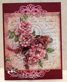 Heartfelt Creations | Time Is Precious -- I like the way the dies were used  --  gorgeous card