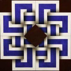 Omar rayo. Barn Quilt Designs, Quilting Designs, 3d Quilts, Barn Quilts, Op Art, Mandala Doodle, Art Optical, Creation Deco, Illusion Art