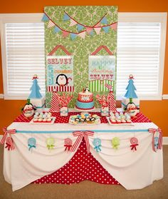 Winter ONEderland Birthday Party – Tip Junkie Party Ideas. Not this year, but definitely for one once he's discovered a love of winter.