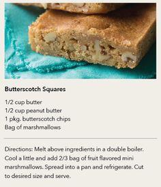 STAFF RECIPE | Butterscotch Squares