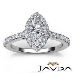 Lustful Marquise Diamond Engagement GIA H VVS2 18K White Gold Prong Set Ring 1ct | eBay