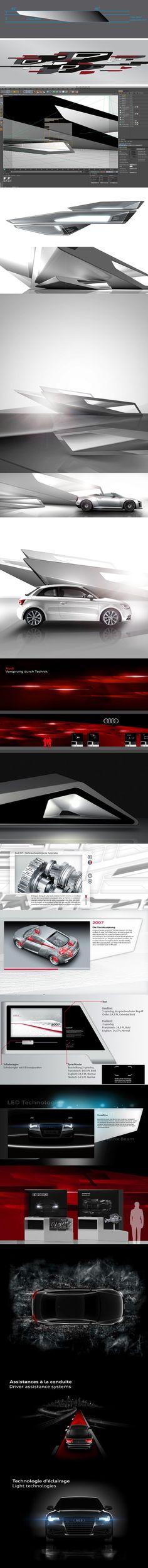Audi Paris Motorshow Stand 2010 by Malte Schweers, via Behance