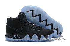 sale retailer afa89 e4775 Nike Kyrie 4 Black Suede Basketball Shoes New Release