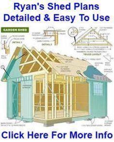 #shedplans Shed Floor Plans, Shed House Plans, Shed Plans 12x16, Wood Shed Plans, Free Shed Plans, Shed Building Plans, Building Ideas, Building Design, Diy Storage Shed Plans