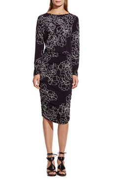 Vince Camuto 'Floral Countours' Jersey Dress available at #Nordstrom