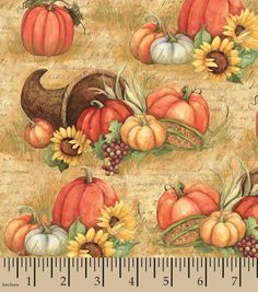 Susan Winget Holiday Inspirations Fabric Horn Of Plenty Joann Crafts, Joanns Fabric And Crafts, Horn Of Plenty, Festive Crafts, Watercolor Architecture, Christmas Fabric, Autumn Theme, Fabric Design, Printing On Fabric