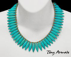 Turquoise Dagger Egyptian Statement.  A Classic by TonyArmato