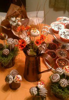 Fall cake ball arrangement