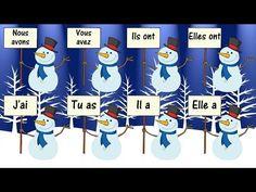 AVOIR Verb Song - La Conjugaison du Verbe Avoir en Chanson - Learn French - YouTube French Verbs, French Grammar, Core French, French Class, French Language Lessons, French Lessons, French Teacher, Teaching French, Verb Song