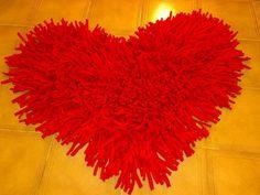 alfombra  ♥ en hilo de tela
