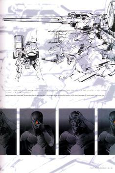 Metal Gear Solid Concept Art - Gray Fox Concept Art