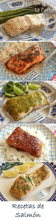 Salmon Recipes - A compilation of Salmon recipes from Muy Locos Por La Cocina. You can find them in www. Healthy Crockpot Recipes, Healthy Cooking, Healthy Dinner Recipes, Vegetarian Recipes, Healthy Eating, Cooking Recipes, Fish Recipes, Seafood Recipes, Mexican Food Recipes
