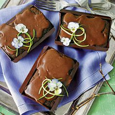 Chocolate Zucchini Cakes | MyRecipes.com