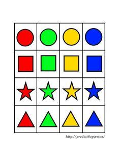 Barvy tvary - logicke tabulky