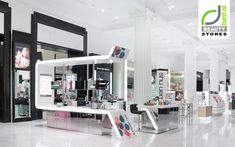 Beautiful cosmetic displays look like a cometitor to Sephora