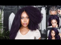How to: STRAIGHTEN VERSATILE CROCHET BRAIDS (no leave out, 3way invisible knotless part) - YouTube