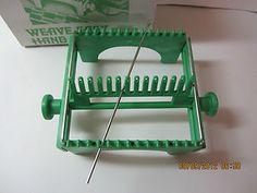 Weave Easy Hand Loom-30 Page Instruction & Pattern Book & Needle