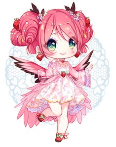 Jewel Strawberry & Andean flamingo Annie I did for YamioAnnietine Event 2017  Annie blessings:2 What kind:Jewel Strawberry & Andean flamingo Eye traits:&...