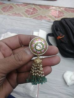 Antique kundan jhumkaa #Indian #Jewellery