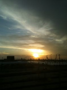 Sunset at the coast.