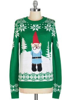 Yule Be in My Heart Sweater. Bring out your holiday cheer in this Fair Isle sweater. #green #modcloth