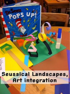 In honor of Read Across America and Dr. Seuss's recent birthday, art and music held some classes in the media center today - very exciting t...