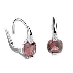 Boucles d'oreilles Gabrielle - Argent, Grenat et Diamant 2