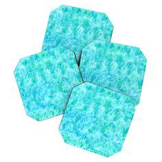 Rosie Brown Sparkling Sea Coaster Set | DENY Designs Home Accessories  #coasters #barset #beverage #homedecor #art #denydesigns #rosiebrown