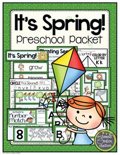Teachers, Spring is such a beautiful time of year…grass is turning green again, new leaves are growing and flowers are blooming!  After the winter we've had, it is time for some nice spring weather. Bring a little spring inside with activities from my Spring Preschool Pack! - Mrs. Jones' Creation Station #Spring #TpT