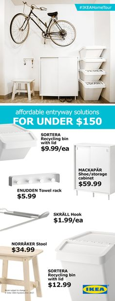 Create an easy and affordable entryway with help from the IKEA Home Tour Squad. The right storage and organization makes for a perfect entry to your home.