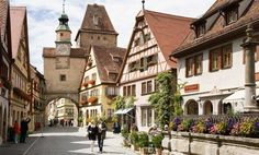 Rothenburg ob der Tauber, Germany Still intact with original buildings from the Middle Ages, this town seems completely untouched by time!