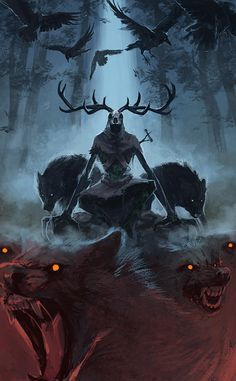 Frightening Leshen #FanArt submitted by @NoraPotwora #TheWitcher