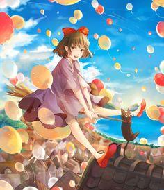 Kiki's Delivery Service by Yoncco #Miyazaki #Ghibli #fanart