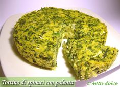 Tortino di spinaci e polenta con formaggi, ricetta gustosa