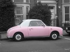 pink nissan figaro...one day