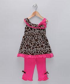 Pink Ruffle Swing Top & Capri Pants - Toddler