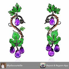 Collection late vendange love combination purple and green