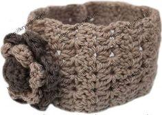 Теплая повязка на голову крючком