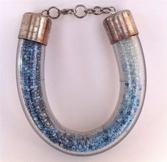 ombre bracelet -  plumbing supplies coolness---COOOL!  Imagine the possibilities with different colors of seed beads--?!  ~wink~