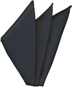 Dark Navy Grenadine Silk Pocket Square #10