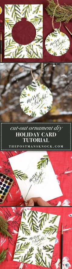 If you're looking for a unique DIY holiday card project, the search is over. This holiday card doubles as a Christmas tree ornament!