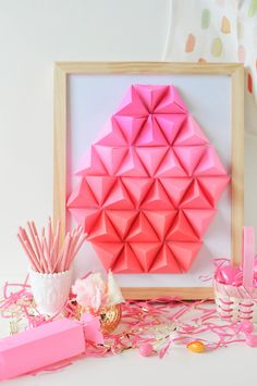 Make this geometric paper Easter egg for your upcoming egg hunt.